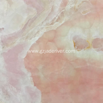 Pink Quality Natural Onyx Stone Wall Panel Slab