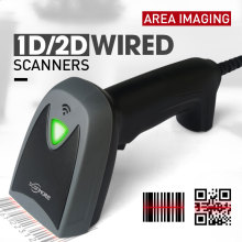 Handheld wired 1D 2D Barcode qr code scanner