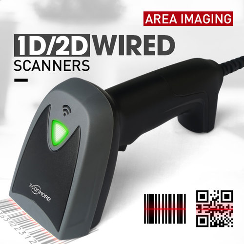 Wired USB 1D 2D handheld imager barcode scanner