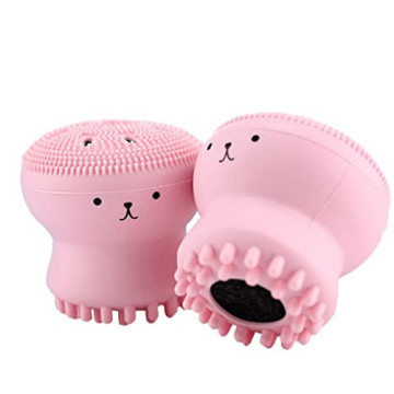 Cute Animal Octopus Silicone Manual Cleaning Brush