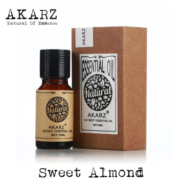 Sweet almond oil AKARZ Top Brand body face skin care spa message fragrance lamp Aromatherapy Sweet almond Carrier oil