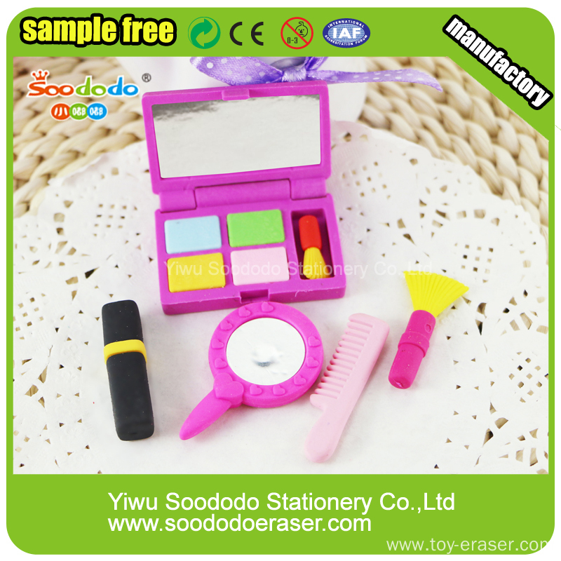 Girl Stationery Sets Fancy Rubber For School