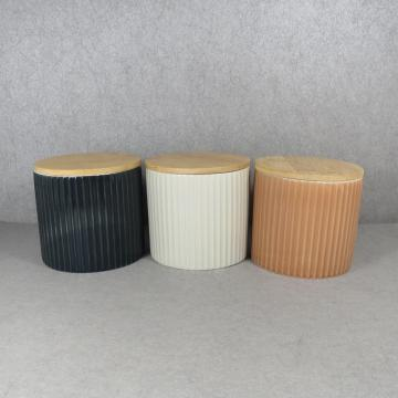 Embossed Ceramic Storage Jars