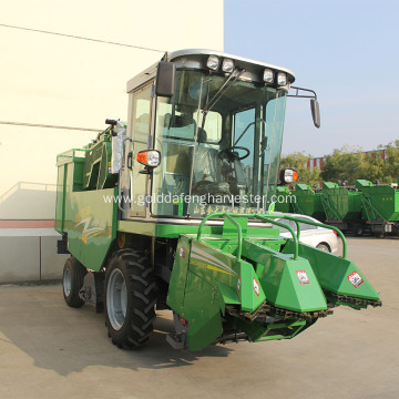 two-row self-propelled corn harvester maize picker machine