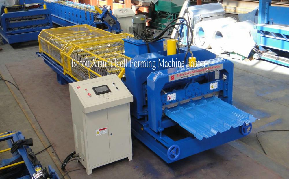 Color Steel Roof Glazed Tile Roll Forming Machine