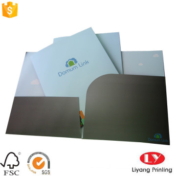 Office paper file folder with pocket