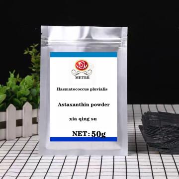 Pure Natural High Quality 95% Astaxanthin Powder, Anti-aging, Rain Red Algae Ball Astaxanthin Powder, Free Shipping