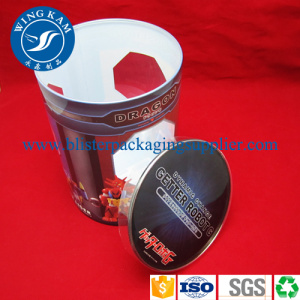Offset Printing Cylinder Tube Packaging Curl Edges