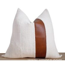 New style faux fur leather cushion cover
