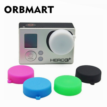 ORBMART Go Pro Camera Accessories Protective Silicone Lens Cap Case Cover For GoPro Hero 4 3+ 3 Sports Action Camera