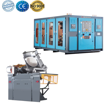 Induction foundry melting furnace for copper scrap