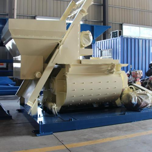 JS self-loading cement concrete mixer in Indonesia