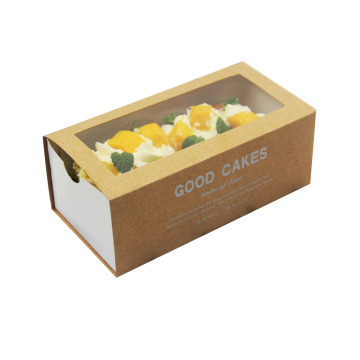 Drawer Type Kraft Paper Take Out Cake Box