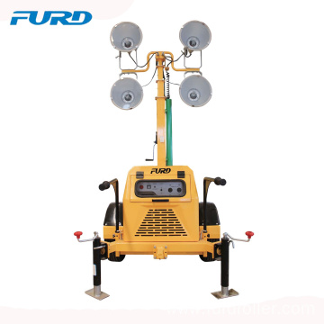 Easily carry portable LED lighting Tower with trailer  FZMTC-1000B