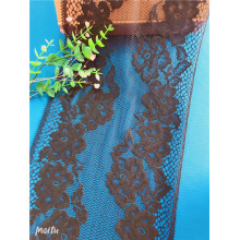 Latest Black African Tulle Net Galloon Lace Fabric