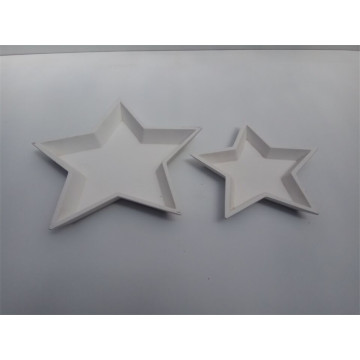 Lovely Star Wooden Plate