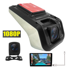 The USB Adas Distance Warn Camera DVR work with Android 4.4 / 5.1 / 6.0 / 7.1/8.1 Car Multimedia Player , With TF SD Card slot