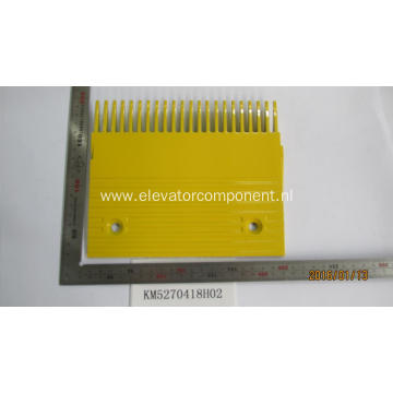 Yellow Aluminum Comb for KONE Escalators KM5270418H02