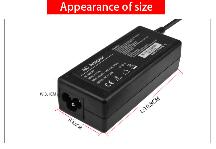 19v 3.42a laptop adapter for toshiba