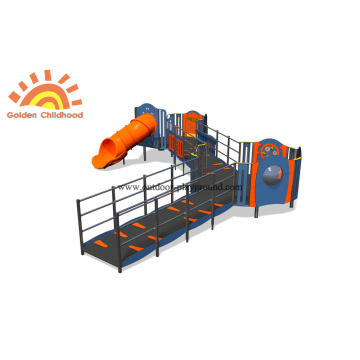 HPL Outdoor Panel Slide Equipment Playground For Children