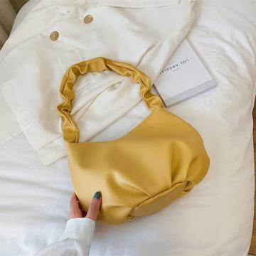 Summer Bag Small Fresh Ins Taro Purple Fold Bag Soft Leather Large-capacity Popular Shoulder Underarm Bag