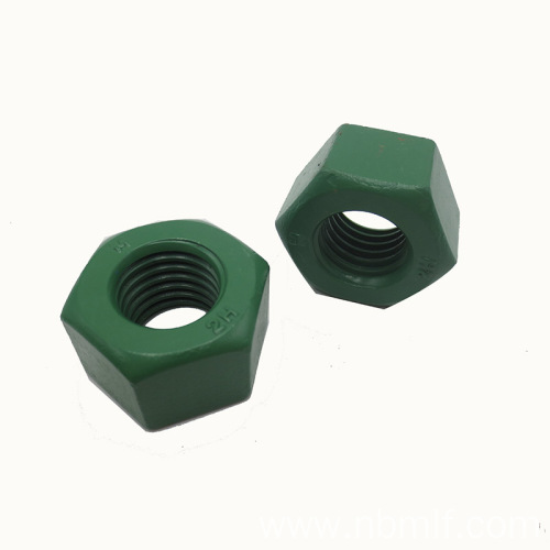 1-8 A194 2-H Plain Finish Heavy Hex Nut