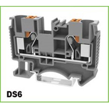 Spring Type Push In DIN-Rail Terminal Block 6mm2