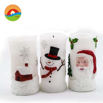 christmas candles santa claus shape led candles
