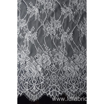 100% Nylon Panel Lace Fabric For Bridal