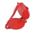 8 Inch Red Aluminum Portable Tortilla Press