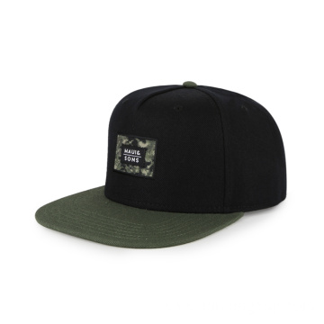 Hip-pop fashion 5 panel flat brim cap