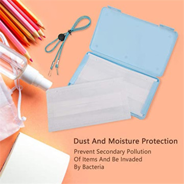 Portable Face Mask Storage Case Plastic Purse Box