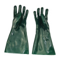 Green PVC Dipped Gloves interlock liner 16inch