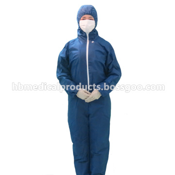 Blue color disposable nonwoven coverall