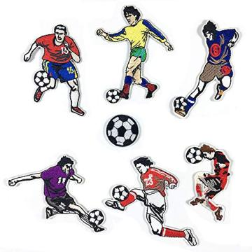 Player Soccer Embroidered Patches Applique Cool Patches