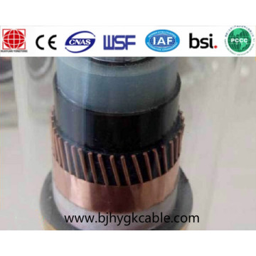 15kv 1-core Aluminium conductor XLPE insulation and PE over sheath power cable