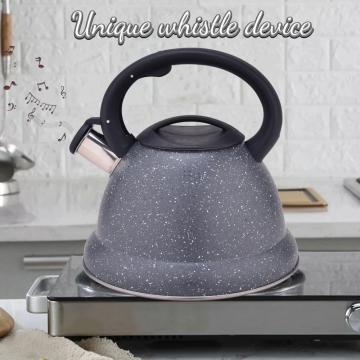 Grey Durable Color Stainless Steel Stovetop Tea Kettle