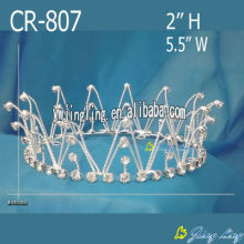 Wholesale Rhinestone Cheap Full Round Crowns For Women