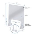 Transparent divider screen acrylic counter protective board