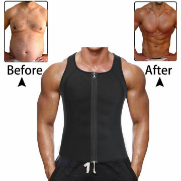 Plus Size Men's Body Shapers Sweat Vest Thermo Slimming Sauna Suit Weight Loss Shapewear Ultra Neoprene Tight-fitting Trainer
