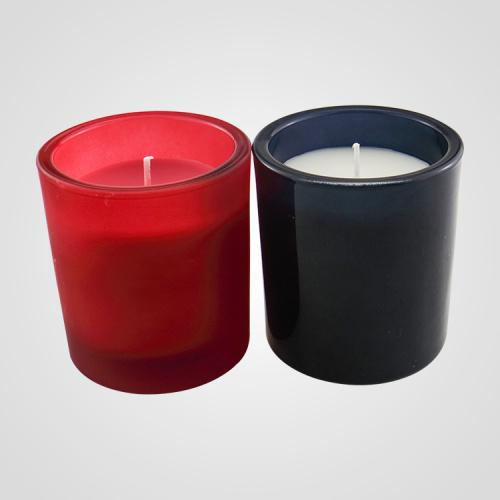 Hot Sale Black And Red Glass Jar Candle