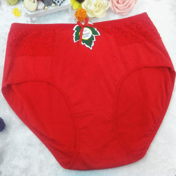 OEM wholesale plus size red cotton lace underwear fat women 3xl panty 2811