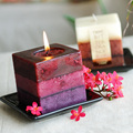 cake the candle of watercolor art