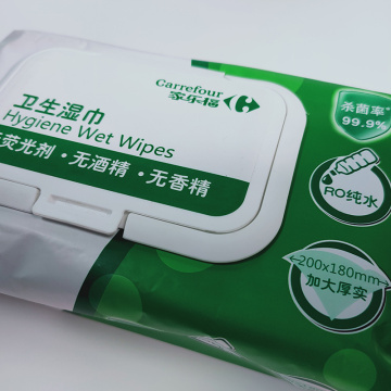 Daily Cleaning Use Adult Flushable Wipes
