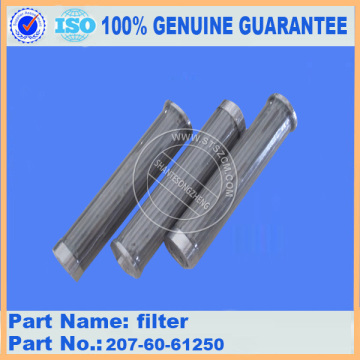 excavator spare parts filter 207-60-61250 for PC300-7