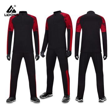 Mens Autumn Winter Half Zipper Tracksuit