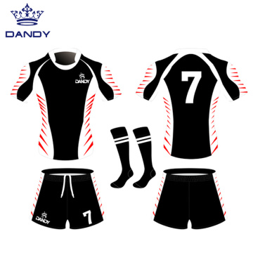 Quick dry Sublimated printing rugby jerseys