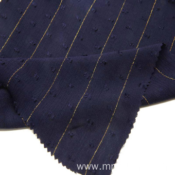 rayon crinkle with golden check lurex