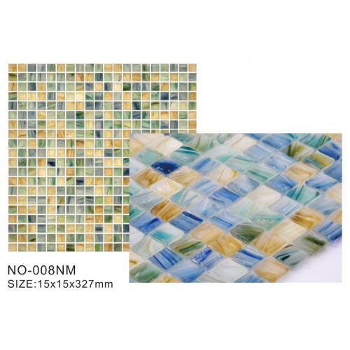 Frosted series matt glass mosaic tiles