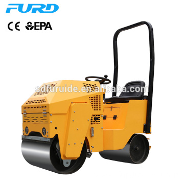 800kg Ride on Double Drum Vibro Compactor